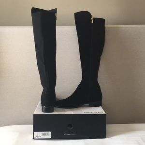 Nine West Tall Black Riding Boots 7.5